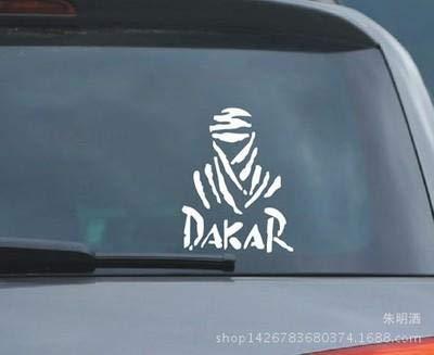 Zyunran Auto-Aufkleber Auto Aufkleber reflektierende Dakar Auto Aufkleber Buggy Aufkleber Offroad Dakar Autosport - schwarz Merchandiseprodukte Aufkleber
