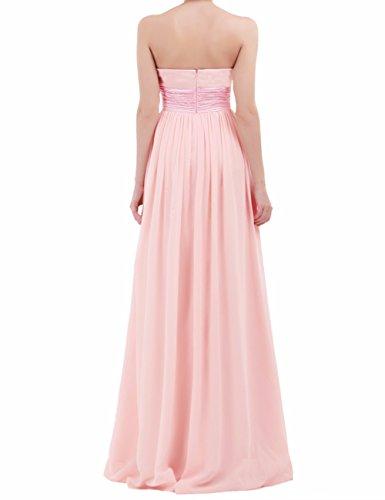 Freebily Damen Kleider Bandeau Kleid Maxi Kleider trägerlose ...