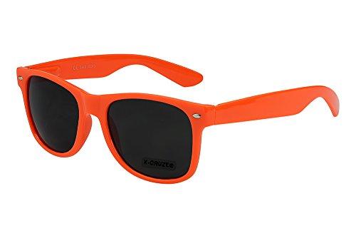 Preisvergleich Produktbild X-CRUZE® 8-009 X17 Nerd Sonnenbrille Style Stil Retro Vintage Retro Unisex Herren Damen Männer Frauen Brille Nerdbrille - rot-orange