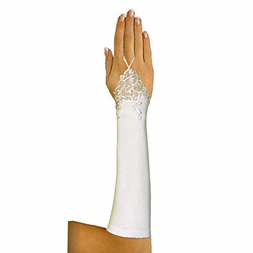 Brauthandschuhe Handschuhe Armstulpen Hochzeit Spitze fingerlos, A127 ivory