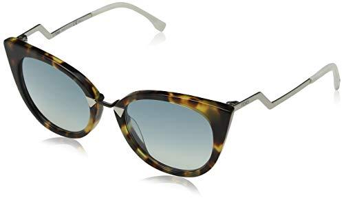 Fendi ff 0118/s 3u icc 52 occhiali da sole, rosa (opal pink/kaki sp blue), donna