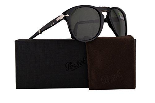 Persol PO0714S Folding Sonnenbrille Schwarz Mit Polarisierten Grünen Gläsern 54mm 9558 PO 0714S PO0714S PO 0714S