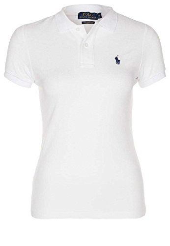 Ralph Lauren Polo Damen Poloshirt The Skinny Polo Weiß (S) (Ralph Lauren Polos)