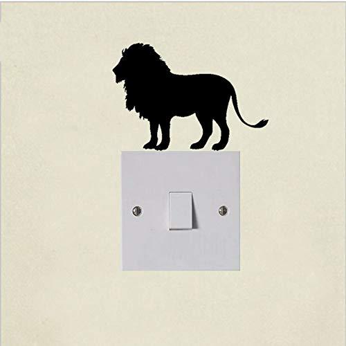 WALSTICKEL Wandtattoos Tier Schalter Aufkleber Aufkleber Vinyl Dekor Gesicht Tribal King Safari Jagd, Schwarz (Für Wohnzimmer Safari-dekor)