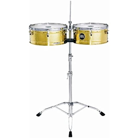 Meinl Percussion LC1BRASS - Timbales, serie Artist-Luis Conte, diametro 35,56 cm (14