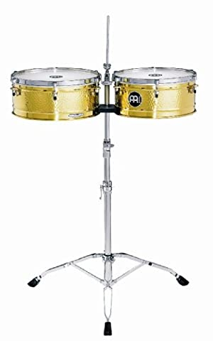Meinl Percussion LC1BRASS Timbales, Artist Series - Luis Conte, Durchmesser 35,56 cm (14 Zoll) und 38,1 cm (15 Zoll), messing