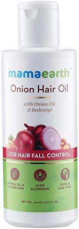 Mamaearth Onion Oil for Hair Growth & Hair Fall Control with Redensyl 1