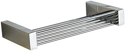 ETmla Il sapone da bagno in porta rete di sapone di rame argento porta in ciondolo in metallo con scatola di sapone 40b182