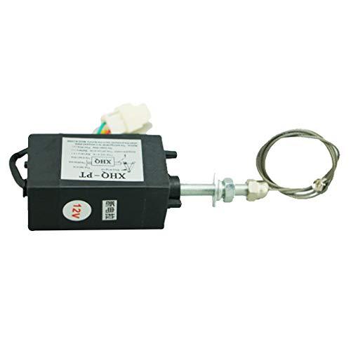 Normalerweise Offene Magnetventil (H HILABEE 1 Mt / 4 Zoll Legierung + Kunststoff Elektromagnet Wasser Luft Kraftstoff Ventil DC 12 V / 24 V - Normalerweise offen 12V)