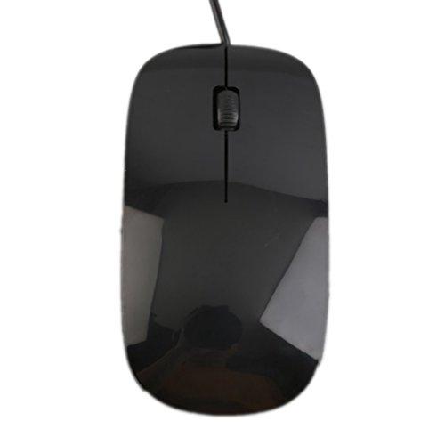 yongvigour Ultra Slim 2,4GHz 4Farben 3D 1200DPI Optische Engine Kabelgebundene Maus Mäuse für PC Laptop Notebook Macbook Computer Pro Gamer schwarz schwarz (Windows Surface 2 Pro Stift)