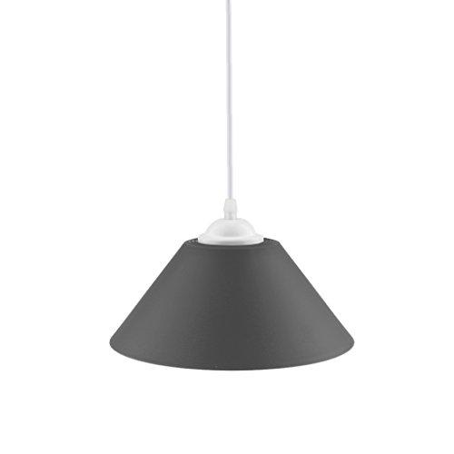 Lampe Licht Kronleuchter (MagiDeal Modern Kegelform E27 110-220V Lampenschirme für Decke Hängende Kronleuchter Licht Lampe - Schwarz)