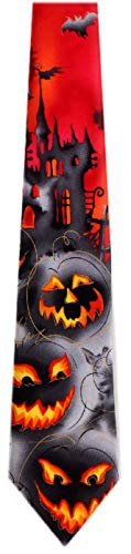 Jerry Garcia JG-7723 Krawatte aus Seide, für Halloween, Grau -