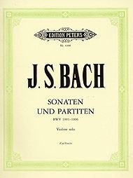 EDITION PETERS BACH JOHANN SEBASTIAN - THE 6 SOLO SONATAS AND PARTITAS BWV 1001-1006 - VIOLIN Partition classique Cordes Violon par Ed: Flesch Bach