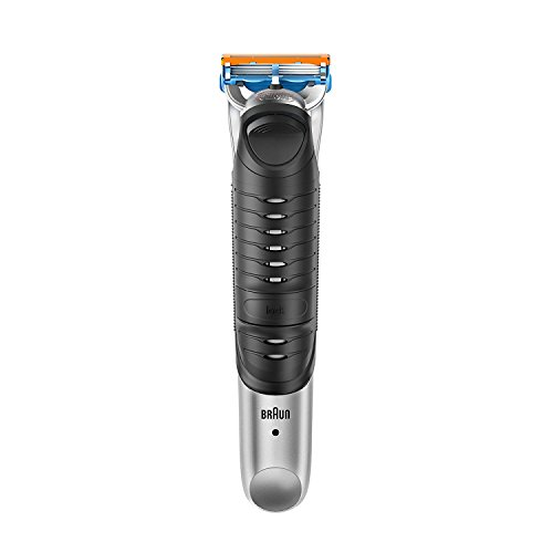Braun BG 5030 - Afeitadora corporal para hombres, depiladora masculina con tres peines de recorte para diferentes longitudes, color plata y negro