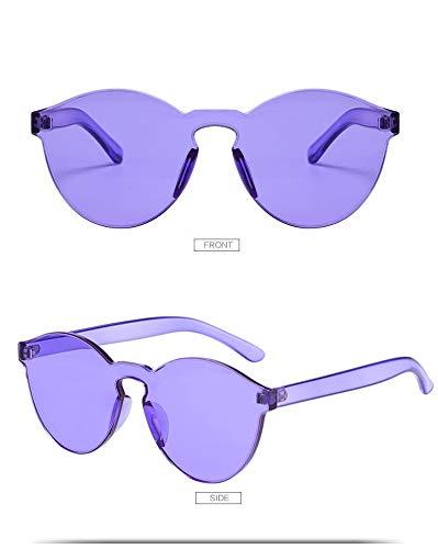 YUHANGH Bunte Sonnenbrillen Frauen Randlose Sonnenbrillen Vintage Transparente Rosa Gelbe Brille Mädchen