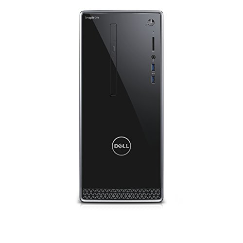 Dell Inspiron DT 3668  Desktop (Intel Core i7-7700, 1TB HDD + 128GB SSD, NVIDIA GeForce GTX 1050 with 2GB GDDR5 graphics memory, DVD RW, Win 10 Home 64bit German) schwarz mit silberbesatz (Desktop-computer Dell Inspiron)
