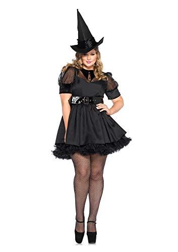 Vintage Hexe Kostüm Übergröße - Leg Avenue 85238X - Bewitching Witch Damen kostüm , Größe 3X-4X (EUR 48-50)