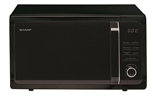 Sharp R764 Grill Microwave, 25 Litre, 900 W, Black