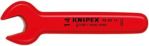 Knipex 98 00 27 Clé à Fourche 27 mm, Rouge