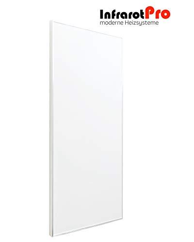 Infrarotheizung 750 Watt weiß mit Digitalthermostat von InfrarotPro Infrarotheizungen 15 JAHRE GARANTIE Made in Germany Elektroheizung Elektroheizkörper Infrarotheizkörper
