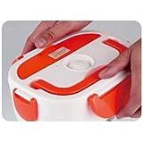 Tupper Eléctrico / Calentador del almuerzo / Termo de comida / Caja de alimento eléctrica conveniente para Trabajadores / Estudiantes Naranja