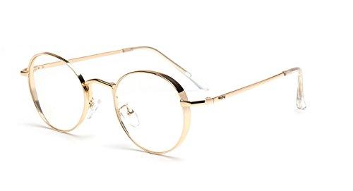 Multi-Frames brillengestell Brillenfassungen Brillen Runder Rahmen der Weinlese Fläche Strahlenschutz Gläser Gold