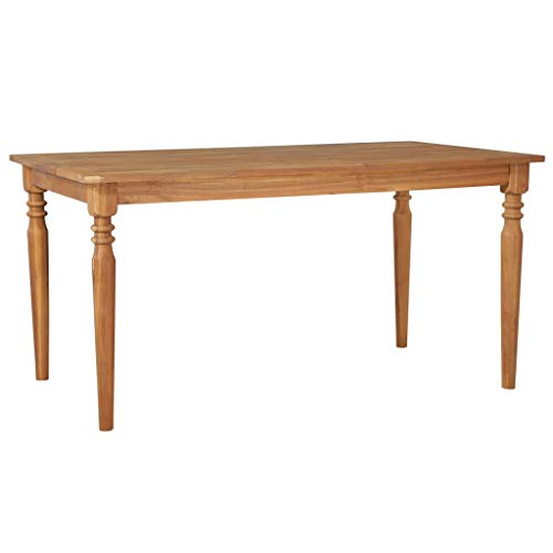 Festnight- Garten-Esstisch Gartentisch Massiv-Akazienholz Garten Tisch Gartenmöbel Holztisch 150 x 90 x 75 cm | für Innen- und Außenbereich -