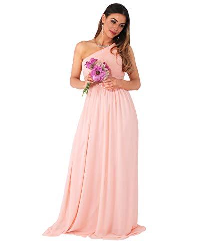 Krisp®, vestito lungo da damigella d'onore, abito da ballo, per feste e serate rosa [4814] xxxl