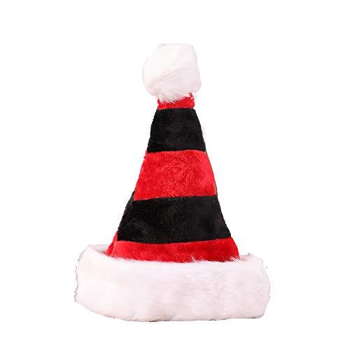 SBL Weihnachtsschmuck Geschenke, High-End-Doppelschicht Plüsch Weihnachtsmützen, Dekorative Hüte, Ktv Bars, Personalisierte Weihnachtsmützen,Schwarz,A