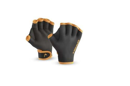HEAD Erwachsene Schwimmhandschuhe Swim Glove, Black, L, 455007BKL
