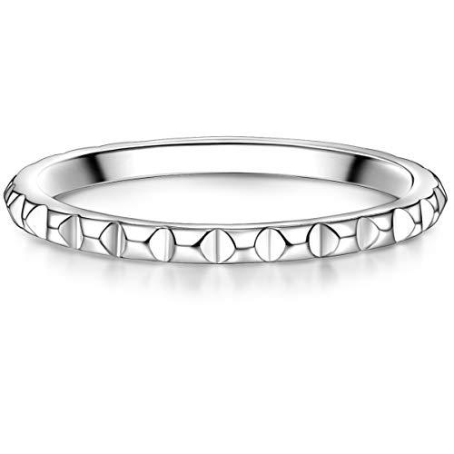 Glanzstücke München Damen-Ring gedreht Sterling Silber 925 - Stapelring für Frauen