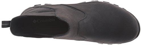 Columbia Mens Newton Ridge Plus Waterproof Slip On Shoes Black/Charcoal