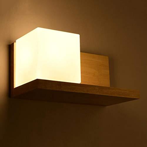 Glas Wandleuchten Retro Quadrat Nachtlicht Rustikale Wohnkultur für Schlafzimmer Veranda Bad Eitelkeit (E27 Lichtquelle Nicht Enthalten) -