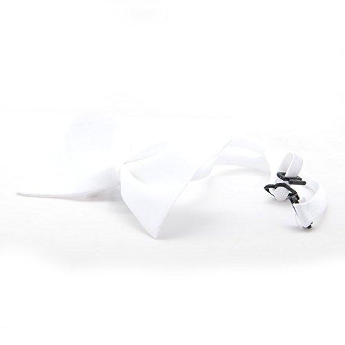 4yourpet Premium Halsschleife, Fliege für Hunde Weiss