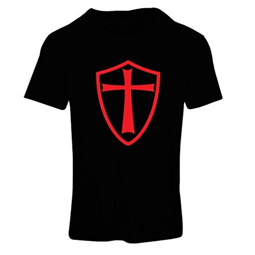 Krankenschwester Kriegs Kostüm - Frauen T-Shirt Ritter Templer - Die Templer Schild Christian Ritter Ordnung (X-Large Schwarz Rote)