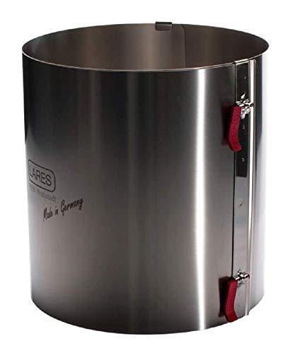 Lares Tortenring mit Klemmhebel XXL Höhe 20 cm - hitzebeständig fruchtsäurefest fixierbar Extra hoch