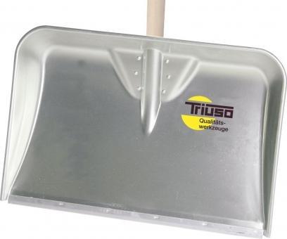 TRIUSO-Alu-Muldeschaufel mit Eschenstiel und Kunststoff Gleitkante