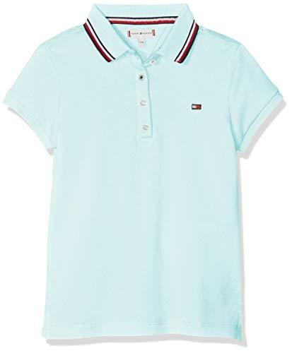 Tommy Hilfiger Mädchen Essential Polo S/S Poloshirt, Blau (Blue Light 483), 104 (Herstellergröße: 4) -