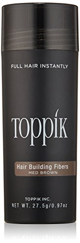 TOPPIK Hair Building Fibers, Medium Brown 27.5 g
