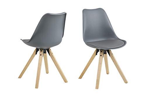 Movian Tima, sedie da pranzo, colore grigio, set da 2