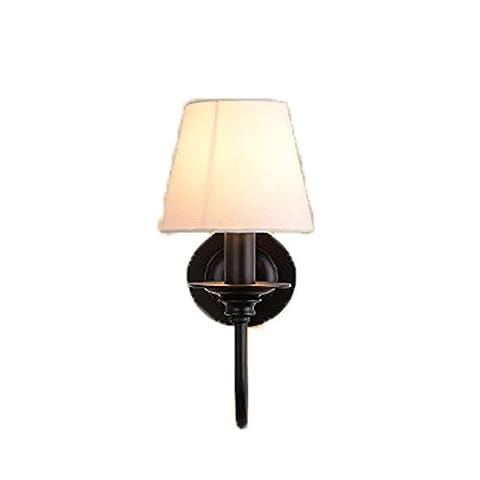 Lampe murale Americen Simplicicy Chambre à LED Light Cloth Iron Single Head