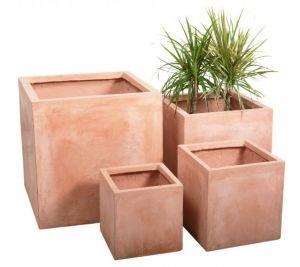 Terracotta Fibrecotta Cube - Medium 30cm - 22