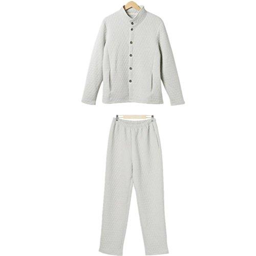 DMMSS Stand maschile collare cotone laminato tessuto Set di pigiama