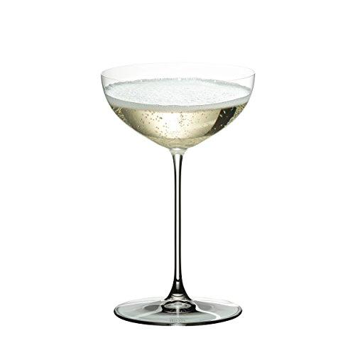 Charme Martini-glas (RIEDEL Cocktailglas-Set, 2-teilig, Coupe-Form, 240 ml, Kristallglas, RIEDEL Veritas, 6449/09)
