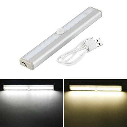 Luz LED para gabinete, luz nocturna con sensor de maceta con detector...