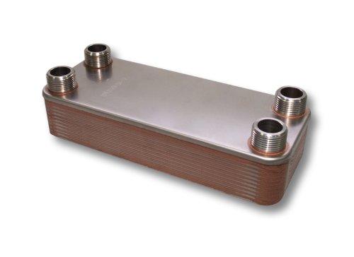 Hrale Edelstahl Wärmetauscher 20 Platten max 115 kW Plattenwärmetauscher Wärmetauscher (20-platten-wärmetauscher)