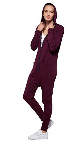 OnePiece Damen Jumpsuit UNO, Violett (Burgundy), 36 (Herstellergröße: S) - 4