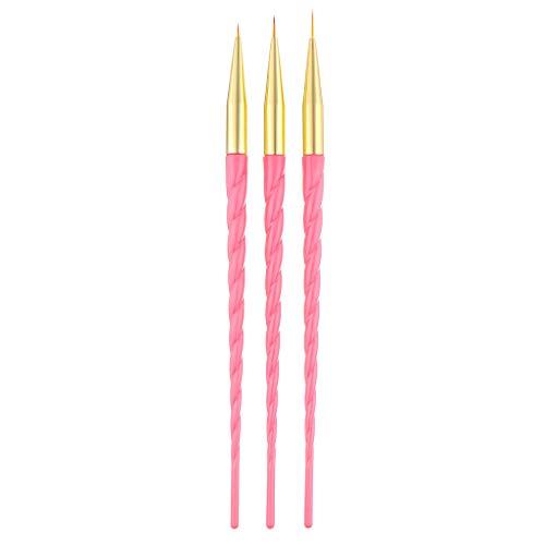 Xmansky Schraubenstange Nagelstift,3 stücke Nail art UV Gel Polish Design Dot Malerei Detaillierung Stift Pinsel Werkzeug Set