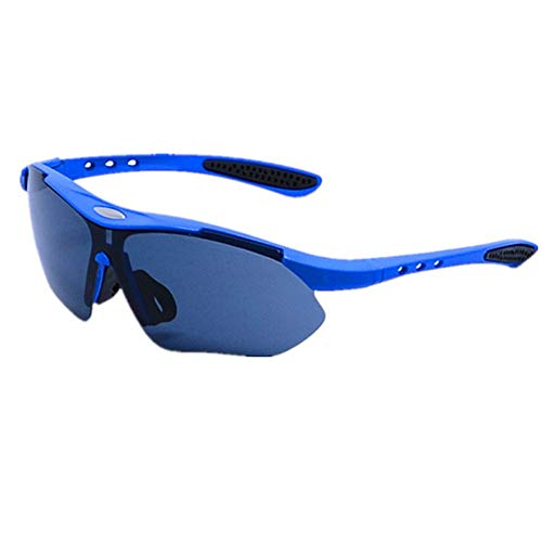 LQY Sportbrillen Multicolor Outdoor Sports Sonnenbrillen Bulk Riding Radfahren Fahren Pc Brille, Blau