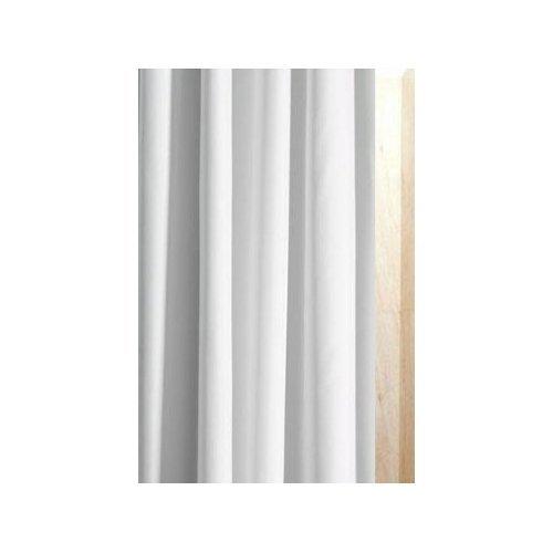 Luxxur plus superior antibatterico 300cm larghezza x 240cm goccia bianco tenda doccia in tessuto di poliestere con peso 50g bordo rinforzato e occhielli antiruggine